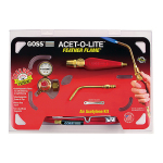 goss feather flame air acetylene torch kit