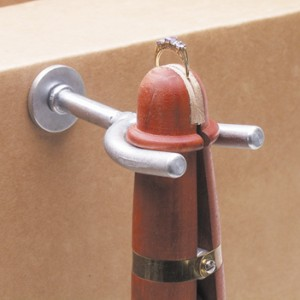 mahogany ring clamp with holder
