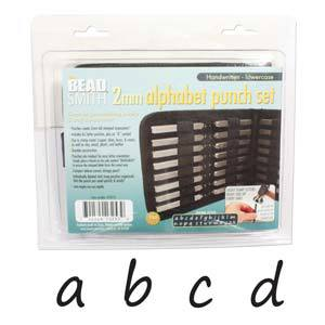 Beadsmith 2mm Handwritten Lowercase Letter Stamp Set
