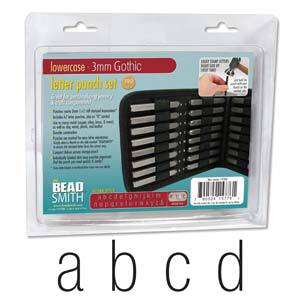 Beadsmith 3mm Gothic Lowercase Letter Stamp Set