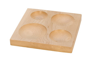 round wood forming block