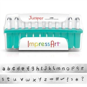 beadsmith juniper lowercase letter stamp set